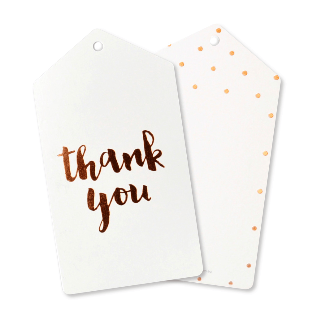 "Etiquetas de Regalo "" Thank You"" en Oro Rosa - 10 pzas Tags Illume"