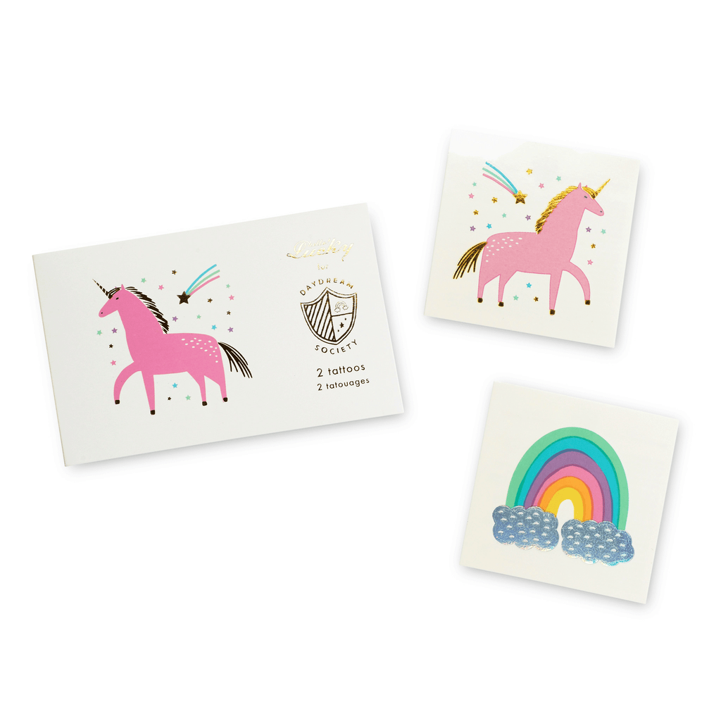 Tatuajes Unicorn and Rainbows- 2 pzas Stickers y Tatuajes Jollity and Co