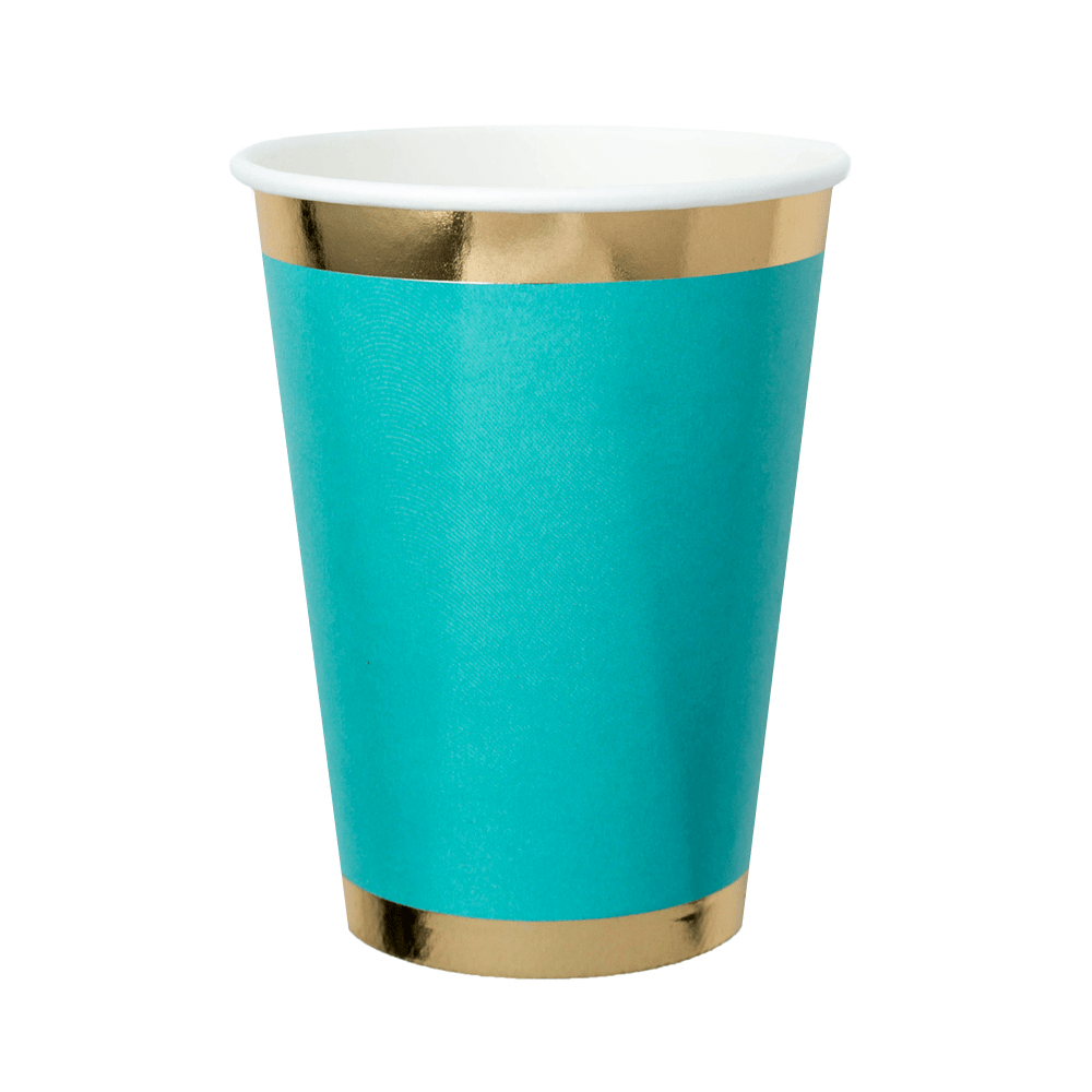 Vaso Alto Posh Verde Mexicano - 8 pzas Vasos Jollity and Co