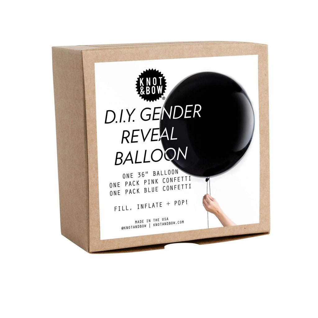 Globo Latex Gigante Kit DIY Gender Reveal 3' - 1 Pza Globos Knot & Bow