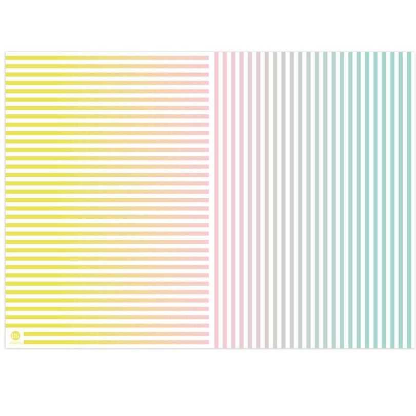 Papel de Regalo Rainbow Chip + Gradient Stripes - 1 pza Papeles Knot & Bow
