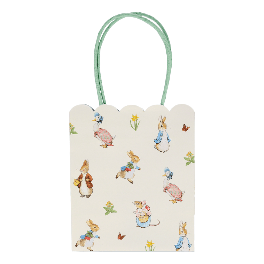 Bolsas de Regalo Peter Rabbit & Friends - 8 pzas Bolsas Meri Meri