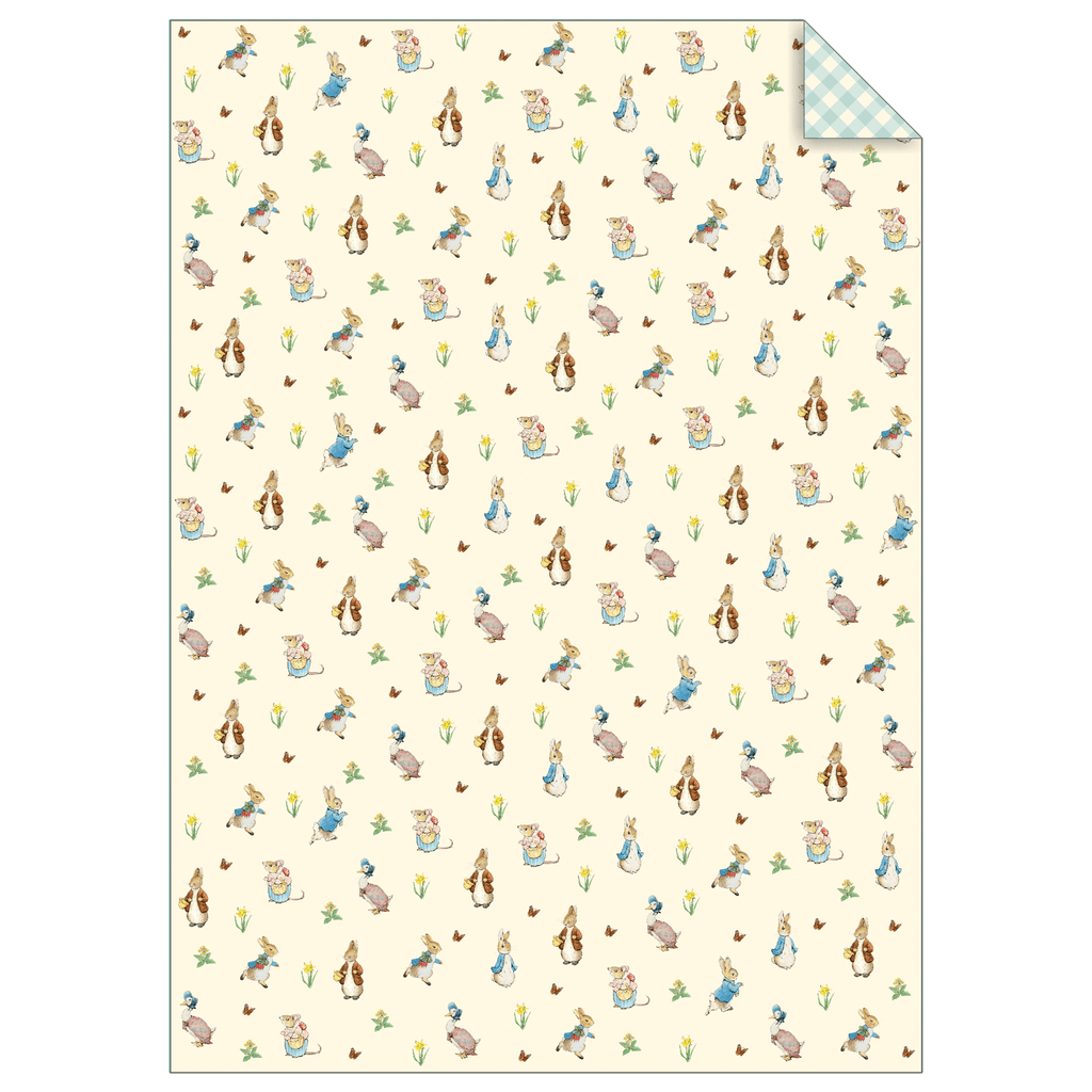 Papel de Regalo Peter Rabbit & Friends - 1 pza Papeles Meri Meri
