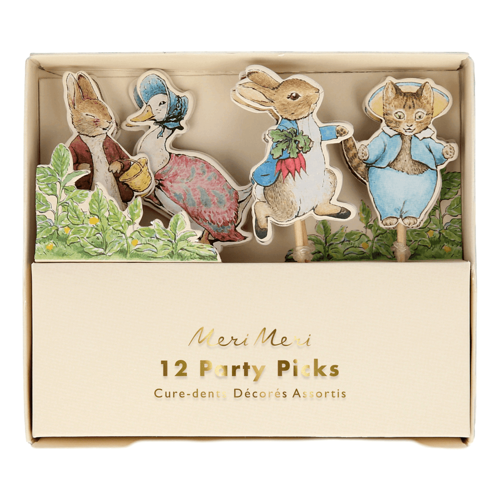 Peter Rabbit & Friends Party Picks - 12 pzas Party Picks Meri Meri
