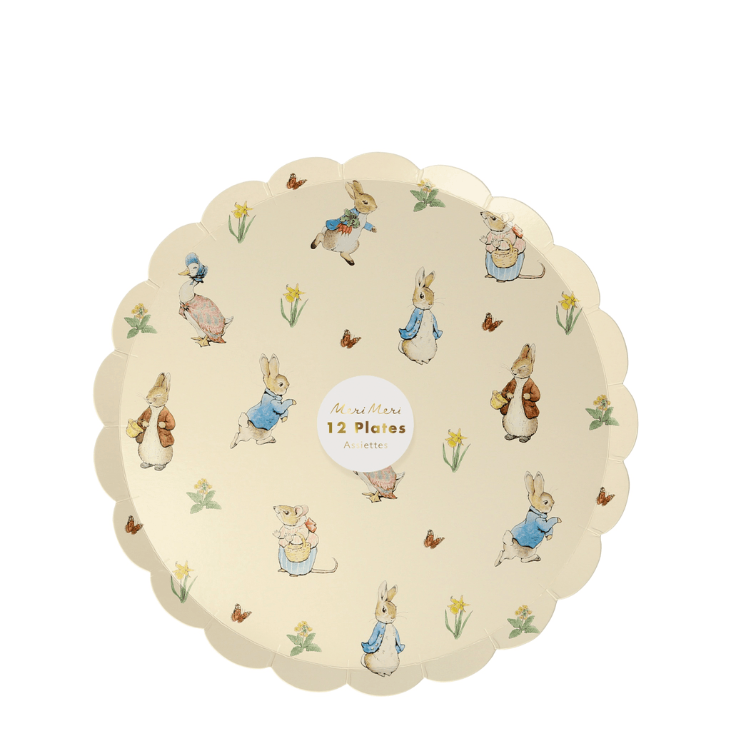 Plato de Postre Peter Rabbit & Friends - 12 pzas Platos Meri Meri