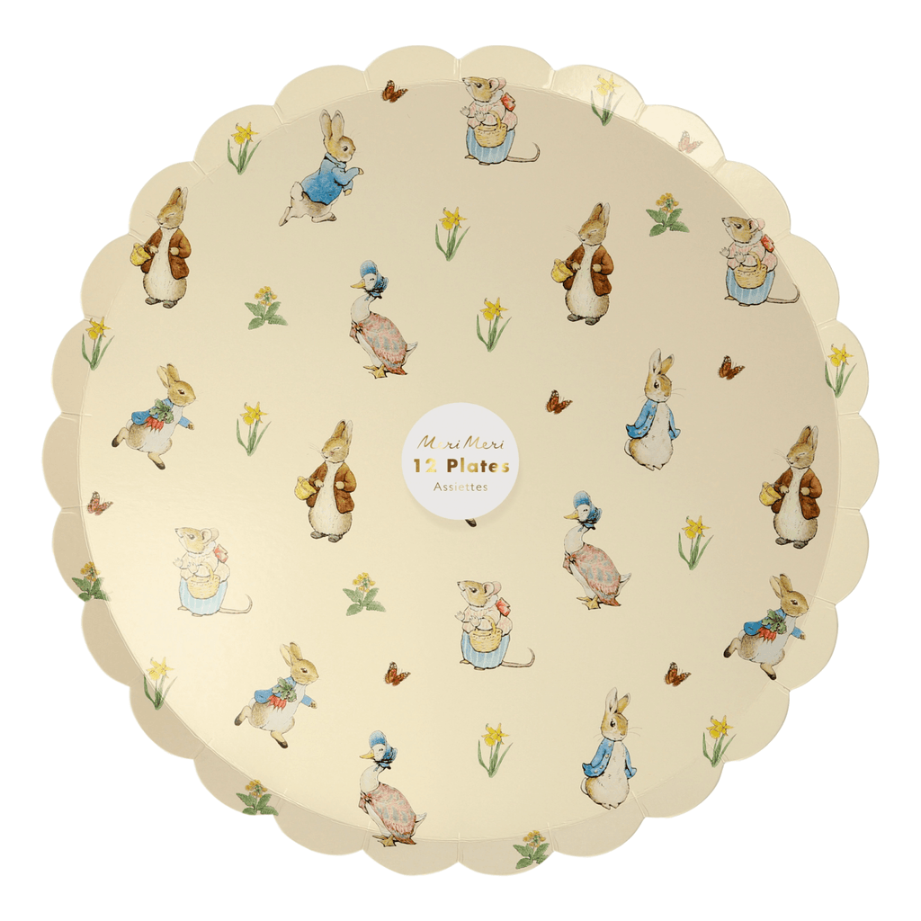 Plato Grande Peter Rabbit & Friends - 12 pzas Platos Meri Meri