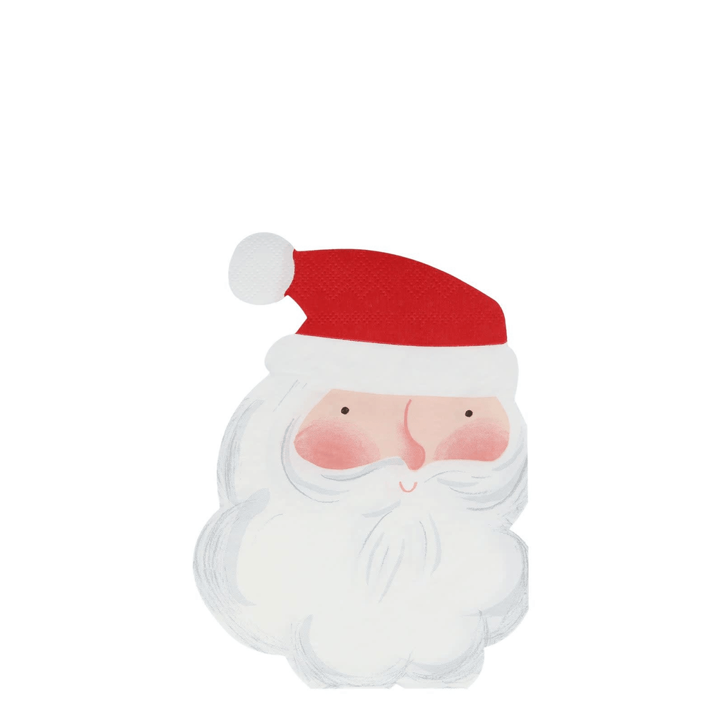 Jolly Santa Napkins - 16 pc.