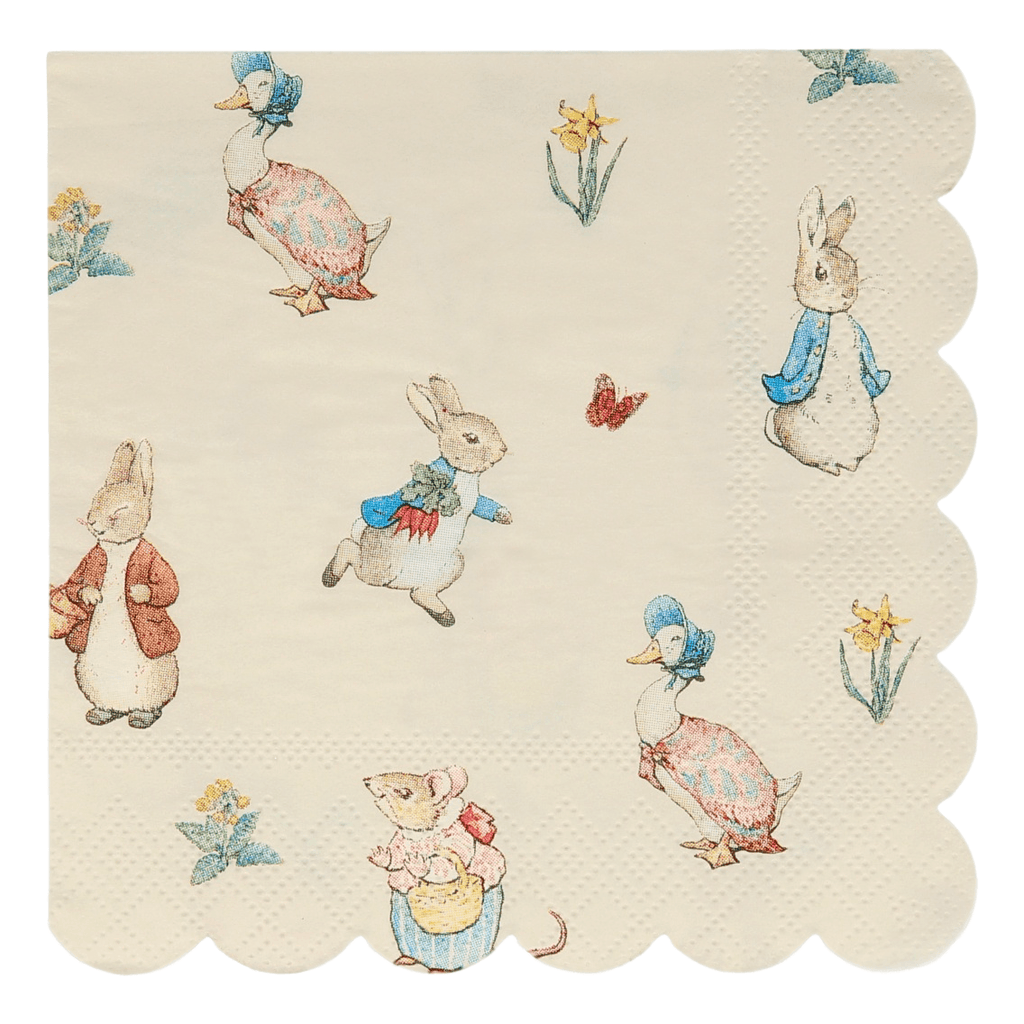 Servilleta Cocktail Peter Rabbit & Friends - 20 pzas Servilletas Meri Meri