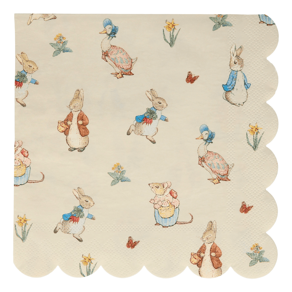 Servilleta Grande Peter Rabbit & Friends - 20 pzas Servilletas Meri Meri