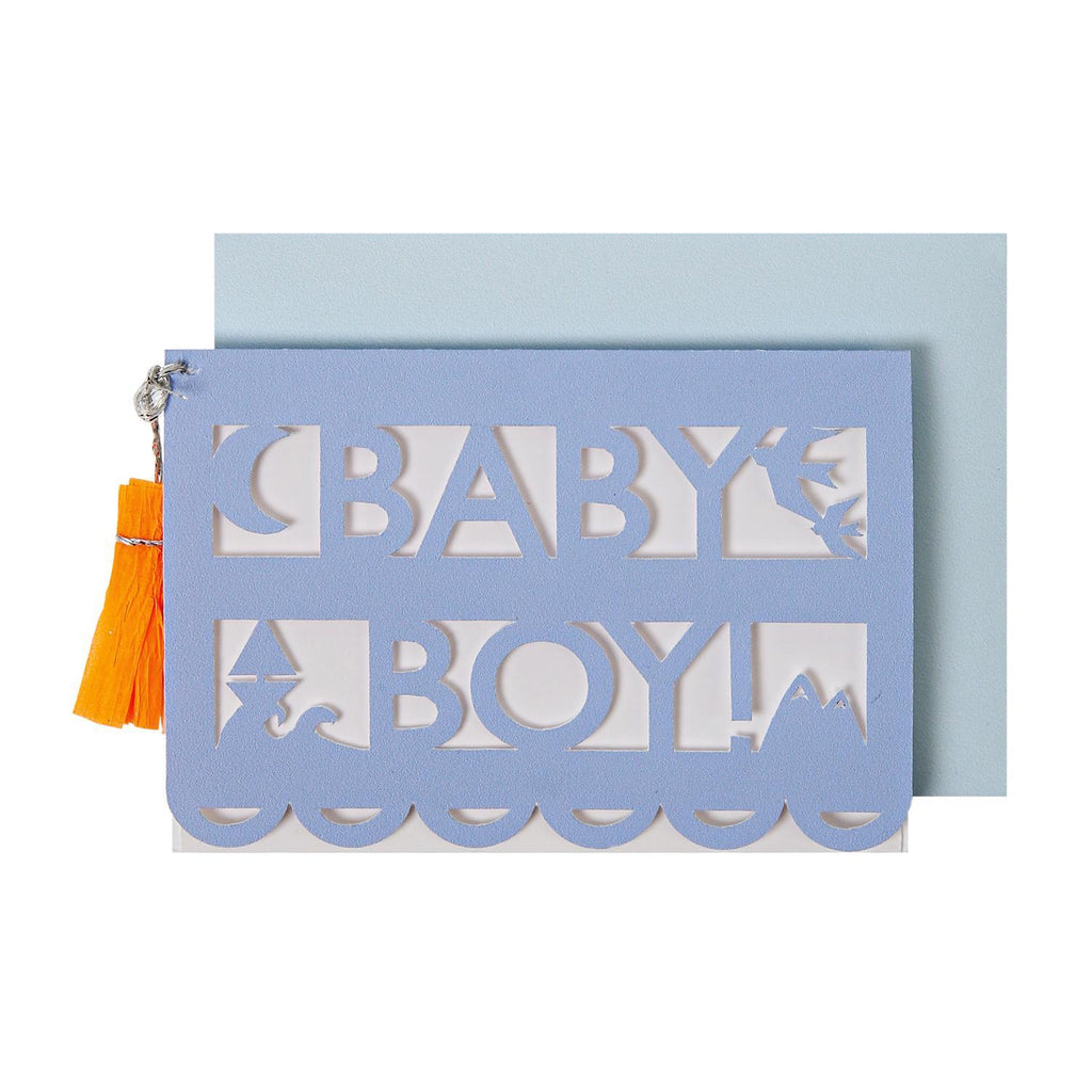 Tarjetita de Regalo Baby Boy Cut Out- 1 pza.