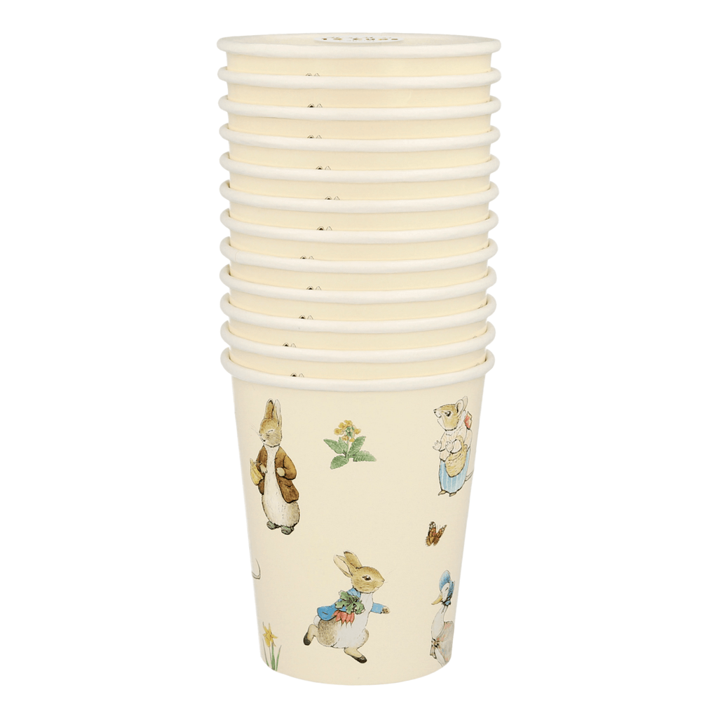 Vaso Peter Rabbit & Friends - 12 pzas Vasos Meri Meri