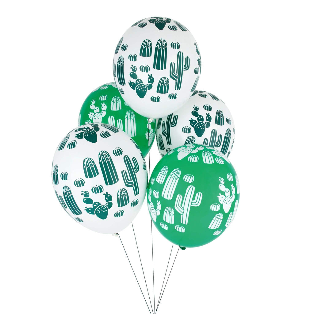 "Globo Latex 11"" Impresos Cactus - 5 pzas Globos My Little Day"