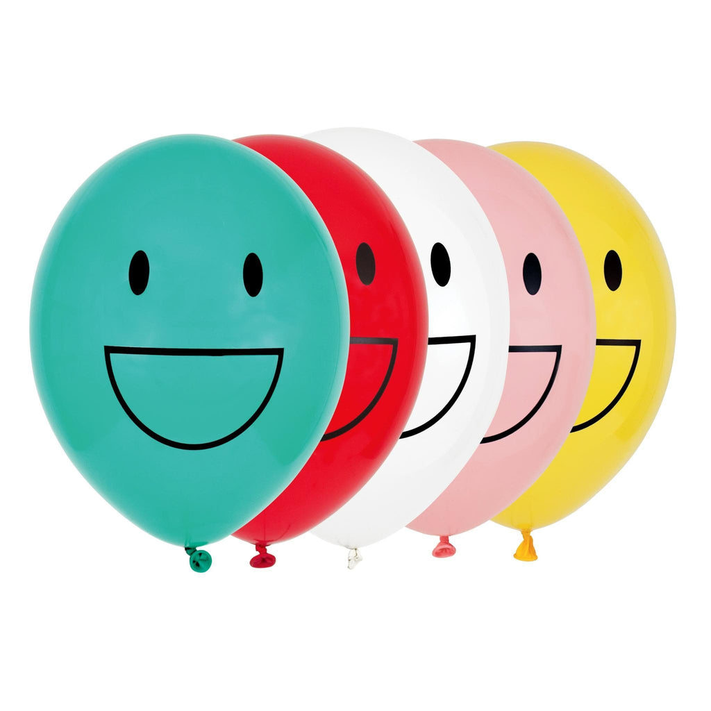 "Globo Latex 11"" Impresos con Happy Faces - 5 pzas Globos My Little Day"