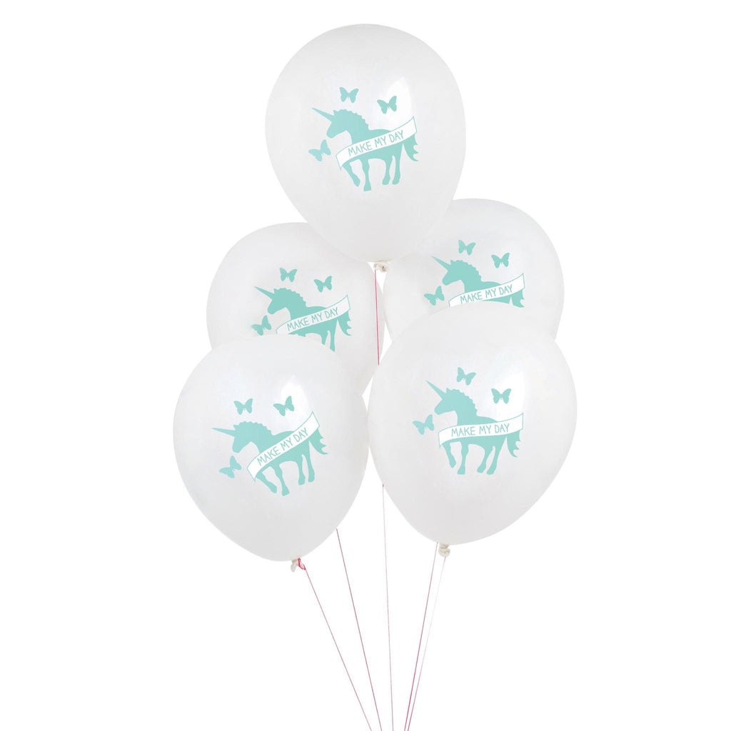 "Globo Latex 11"" Impresos de Unicornio - 5 pzas Globos My Little Day"