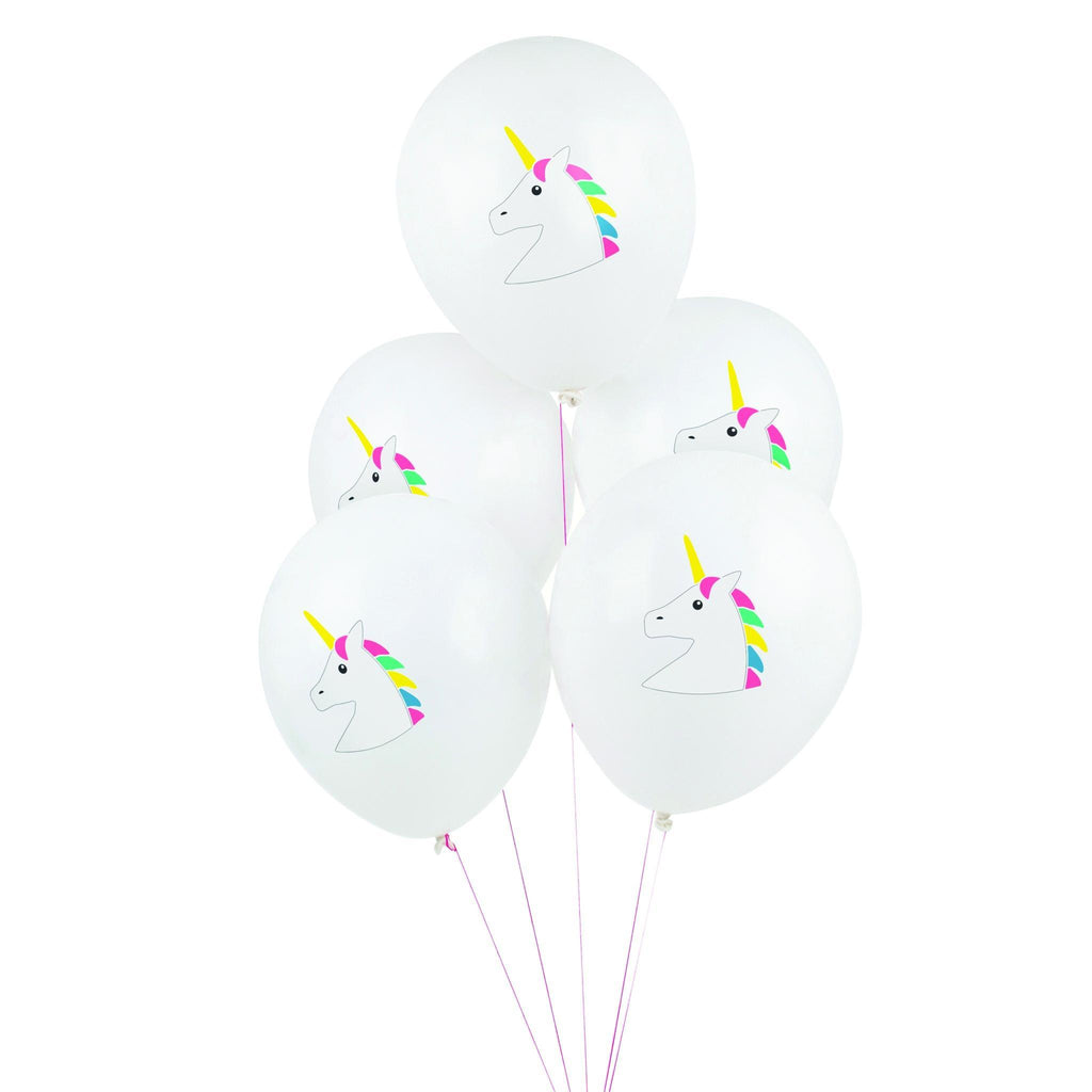 "Globo Latex 11"" Impresos de Unicornio Multicolor - 5 pzas Globos My Little Day"