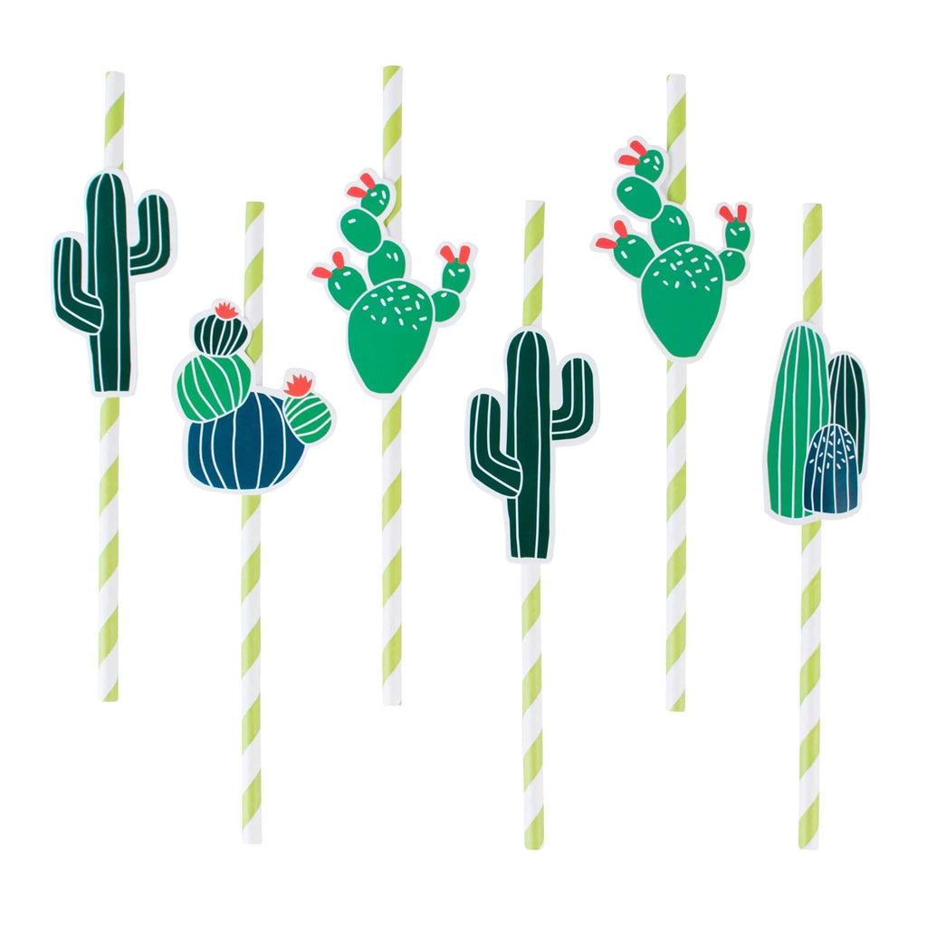 Popotes de Papel Cactus - 12 pzas Popotes My Little Day