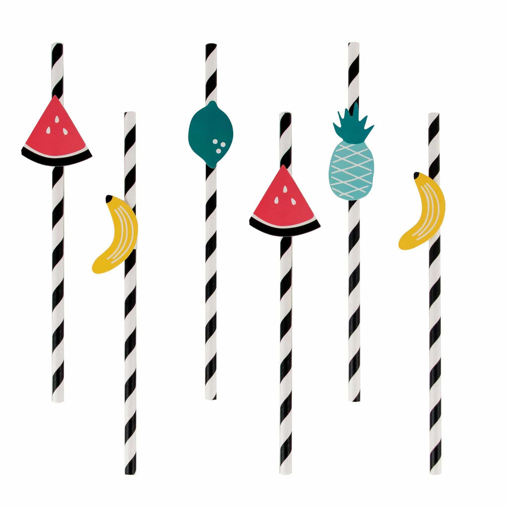 Popotes de Papel Toppers de Frutas - 12 pzas Popotes My Little Day