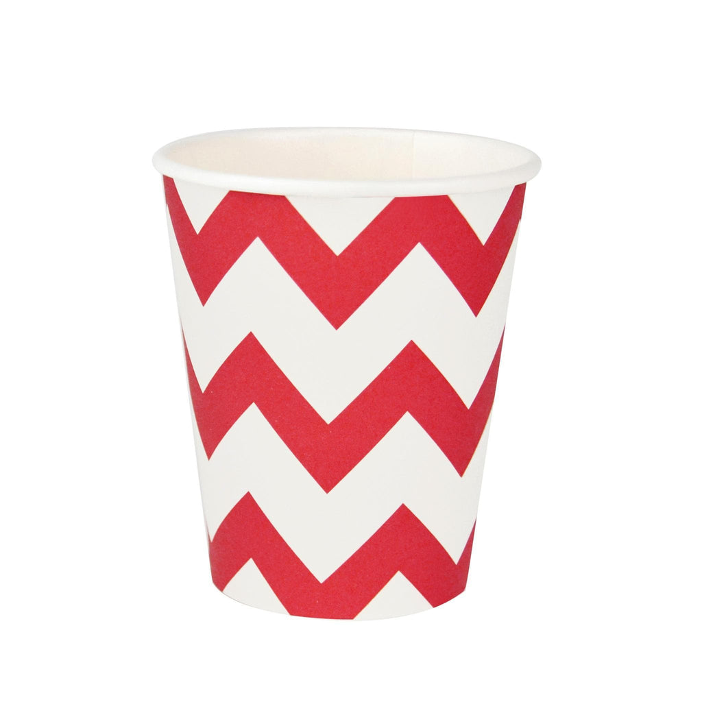 Vaso Chevron Rojo- 8 pzas Vasos My Little Day
