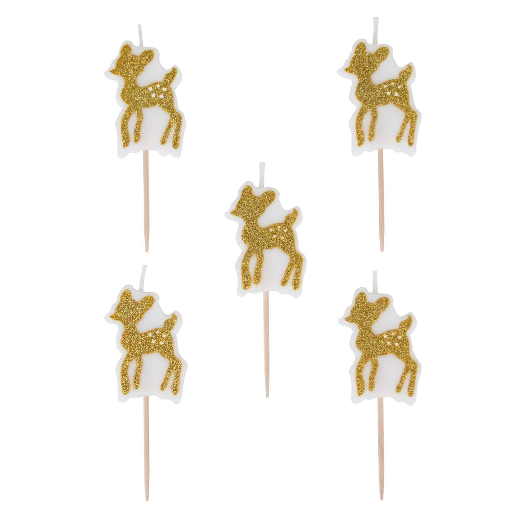 Vela para Pastel de Golden Fawn- 6 pzas Velas My Little Day