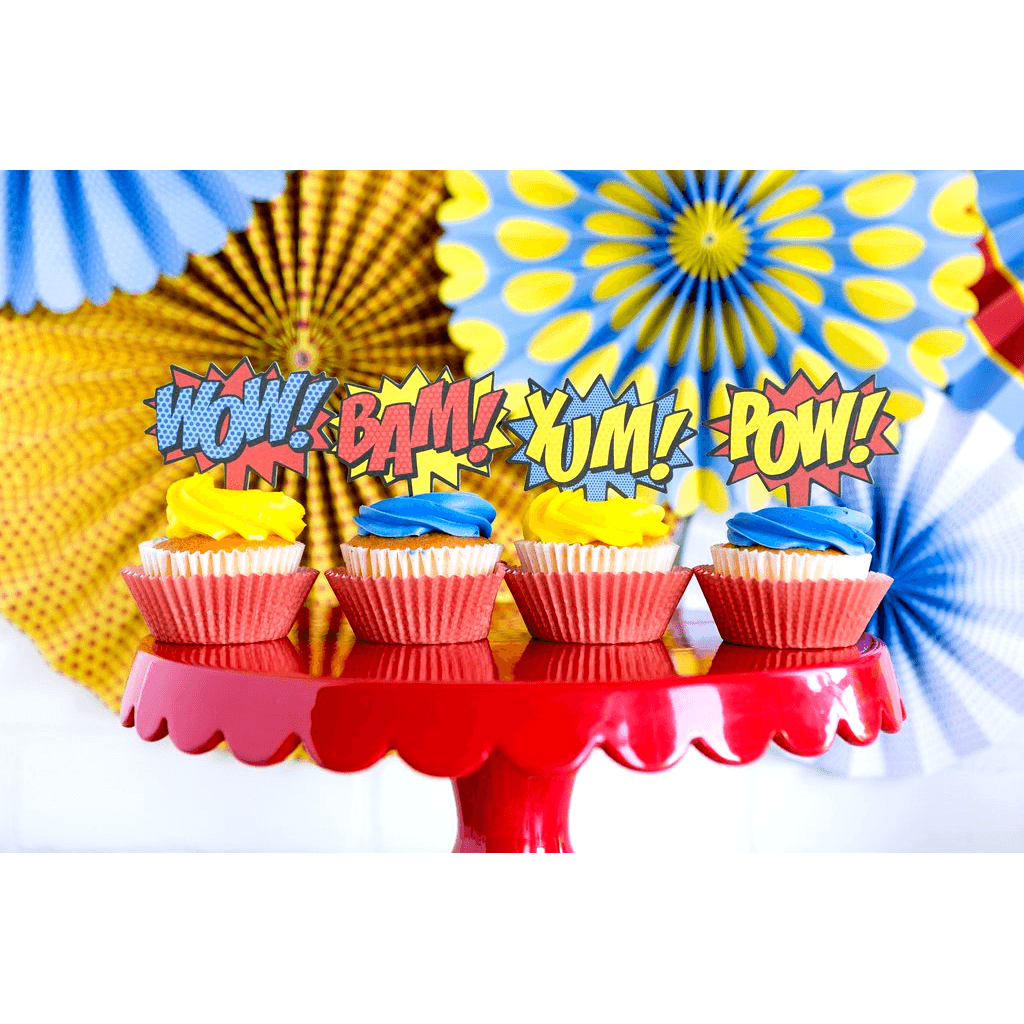 Cupcake Kit Comics Superheroe - 24 pzas Cupcakes My Minds Eye