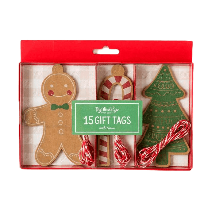 Gingerbread Set Gift Tag - 15 pzas Tags My Minds Eye