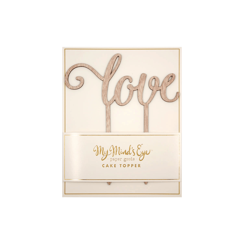 "Topper para Pastel ""Love"" en Madera - 1 pza (1 IND) Toppers My Minds Eye"