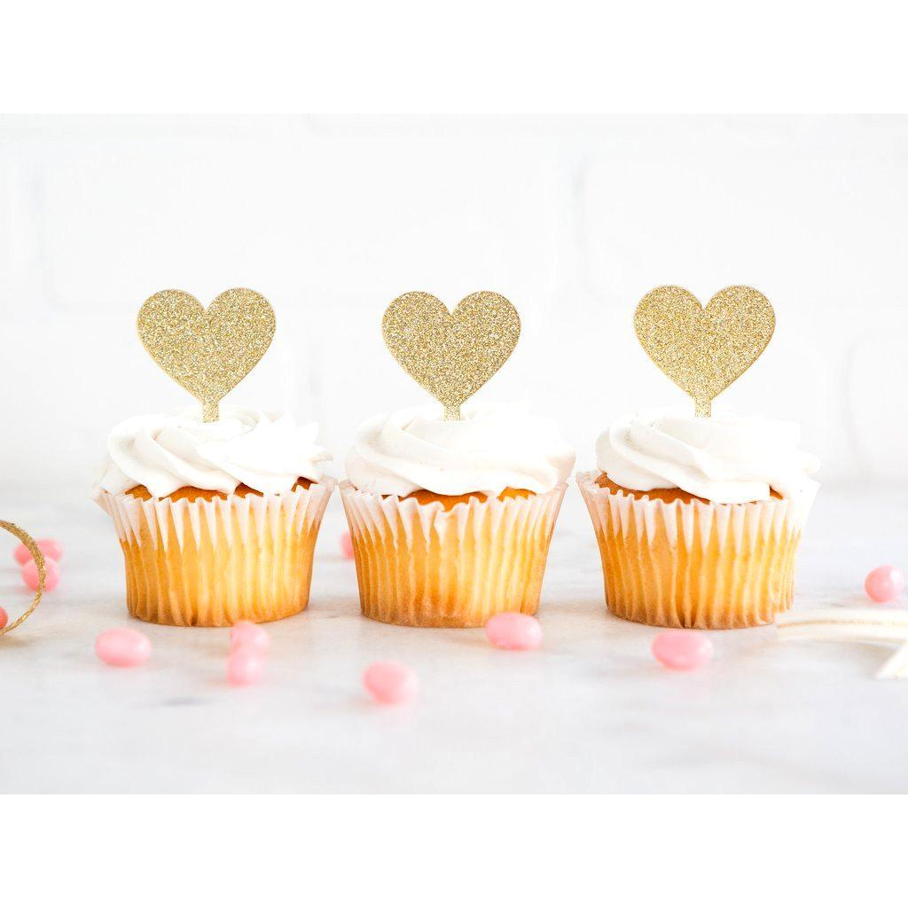 Toppers para Cupcakes de Corazones - 8 pzas Toppers My Minds Eye