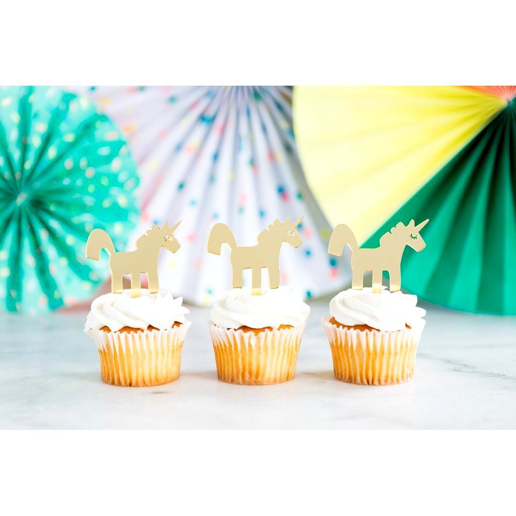 Toppers para Cupcakes de Unicornio - 8 pzas Toppers My Minds Eye