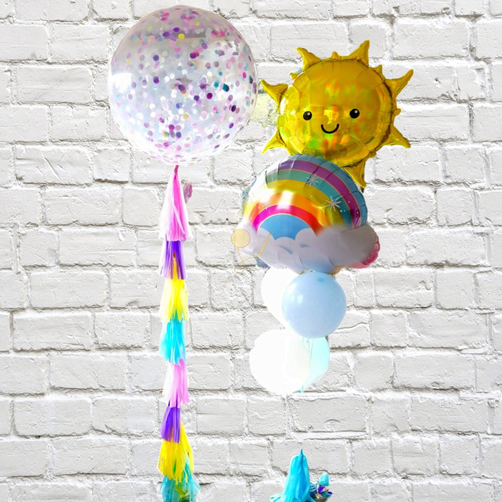 Bouquet Inflado Sunshine and Rainbows Arreglo globos PARTY ART