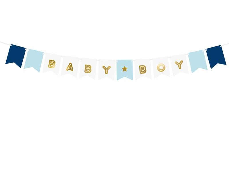 PARTY ART Banners Banner Baby Boy, mix, 15 x 160 cm