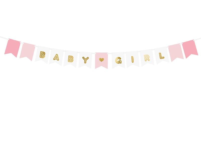 PARTY ART Banners Banner Baby Girl, mix, 15 x 175 cm