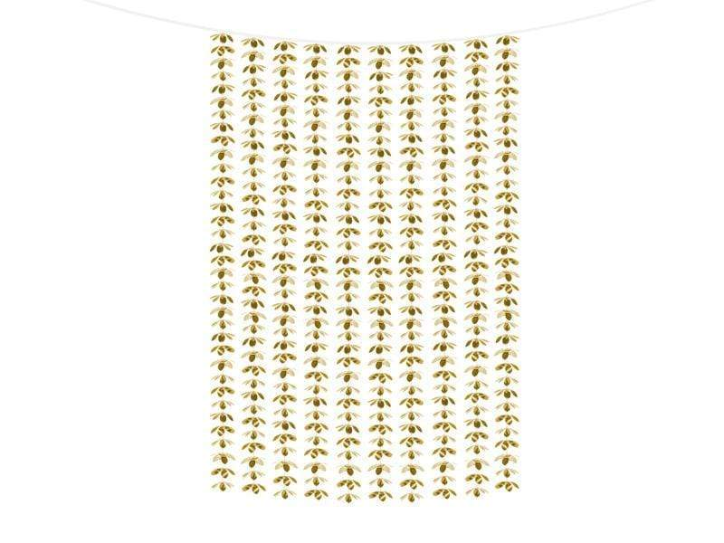 PARTY ART Cortina Backdrop - Flowers, gold, 100x210cm