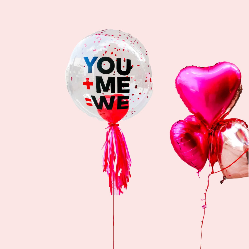 Burbuja Personalizada You + Me - 1 pza Globos PARTY ART
