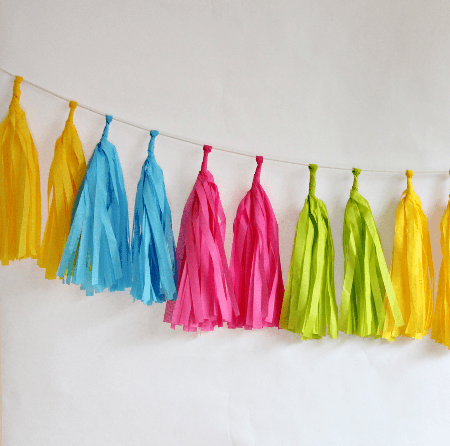 Tassels Color Neon Guirnaldas PARTY ART