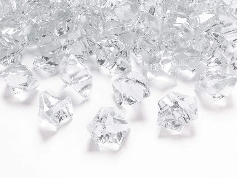 Crystal ice, colourless, 25 x 21mm (1 pkt / 50 pc.) Accesorios Party Deco