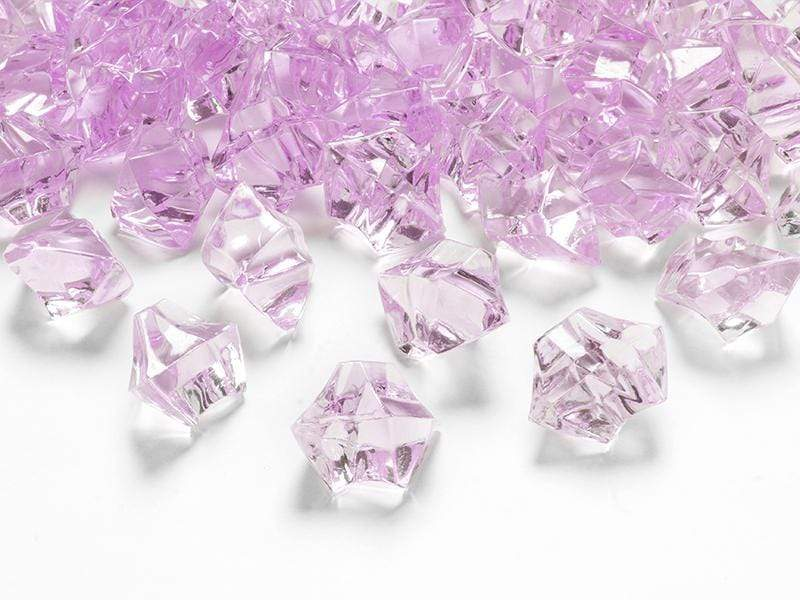 Crystal ice, pink, 25 x 21mm (1 pkt / 50 pc.) Accesorios Party Deco
