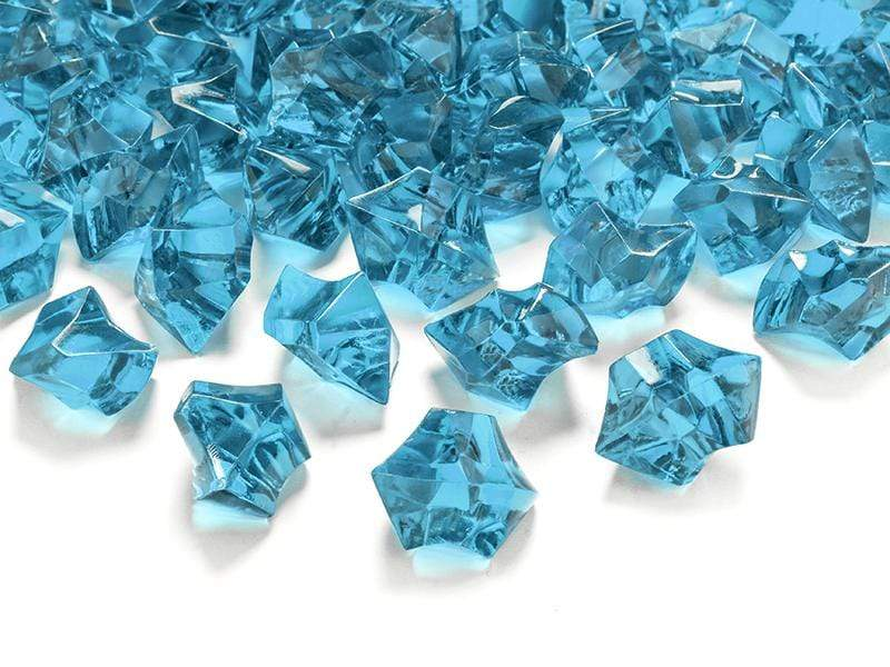 Crystal ice, turquoise, 25 x 21mm (1 pkt / 50 pc.) Accesorios Party Deco