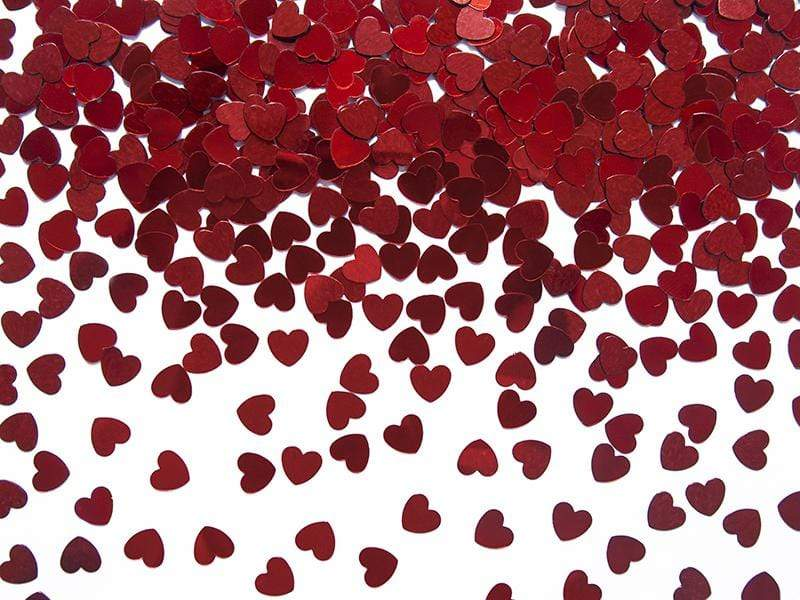 Confetti Hearts, red, 5mm, 30g.