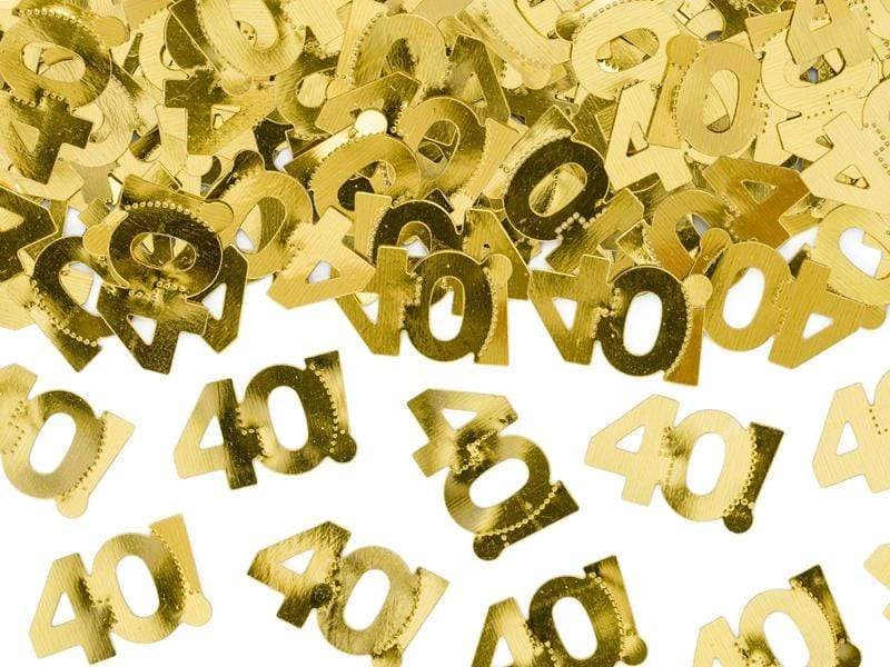 Metallic confetti, number 40, 15g Confeti Party Deco