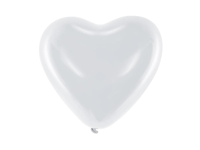Balloons 10'' pastel, hearts, Pastel white (1 pkt / 6 pc.) Globos Party Deco