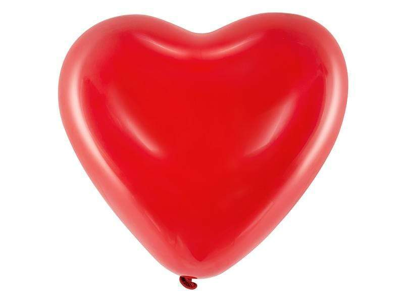 Balloons 16'' Hearts, Pastel red (1 pkt / 6 pc.) Globos Party Deco