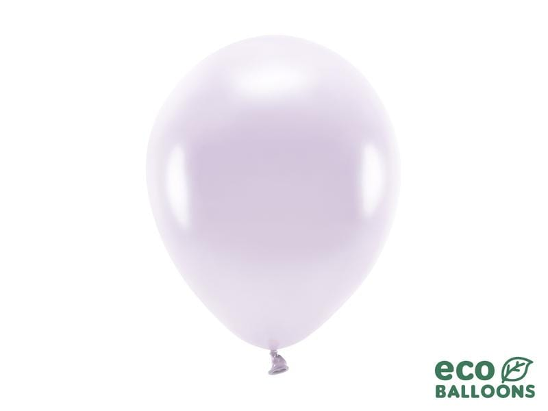 Eco Balloons 26cm metallic, lilac (1 pkt / 10 pc.) Globos Party Deco