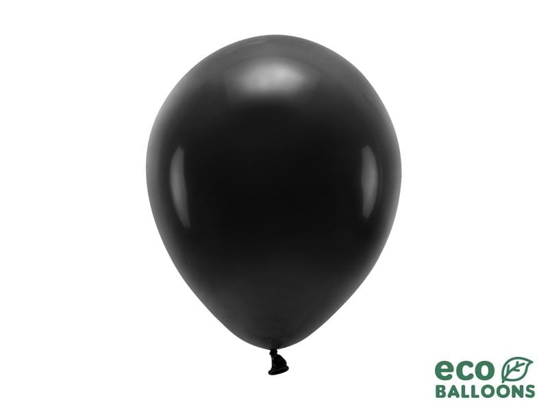 Eco Balloons 26cm pastel, black (1 pkt / 10 pc.) Globos Party Deco