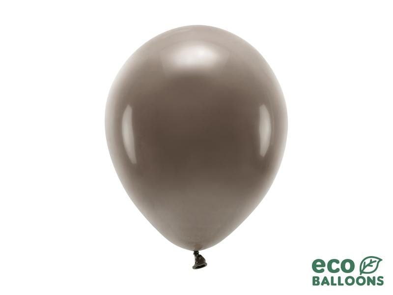 Eco Balloons 26cm pastel, brown (1 pkt / 10 pc.) Globos Party Deco