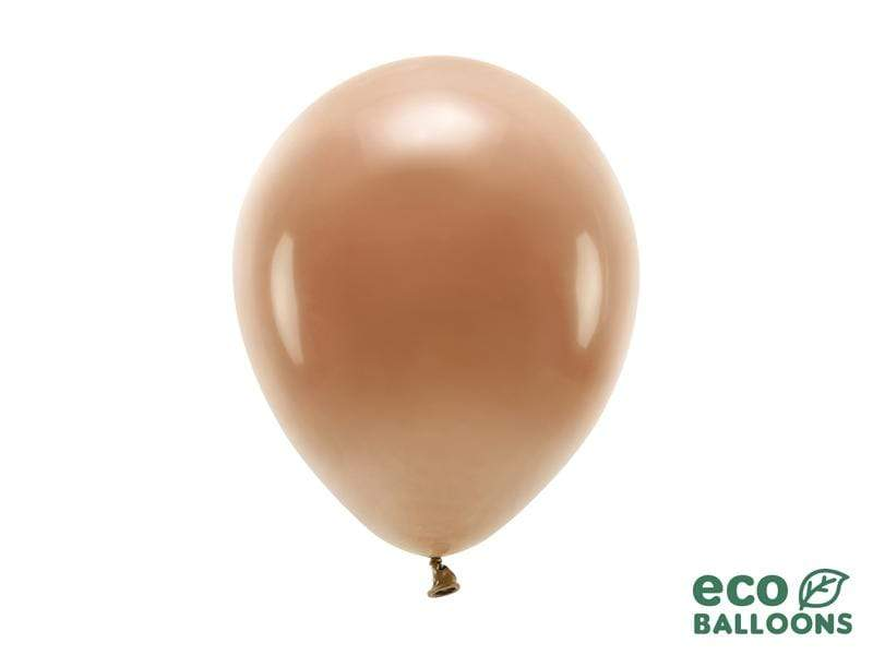 Eco Balloons 26cm pastel, chocolate brown (1 pkt / 10 pc.) Globos Party Deco