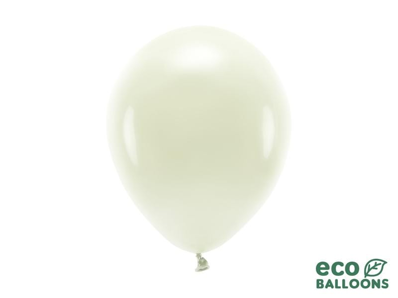 Eco Balloons 26cm pastel, cream (1 pkt / 10 pc.) Globos Party Deco