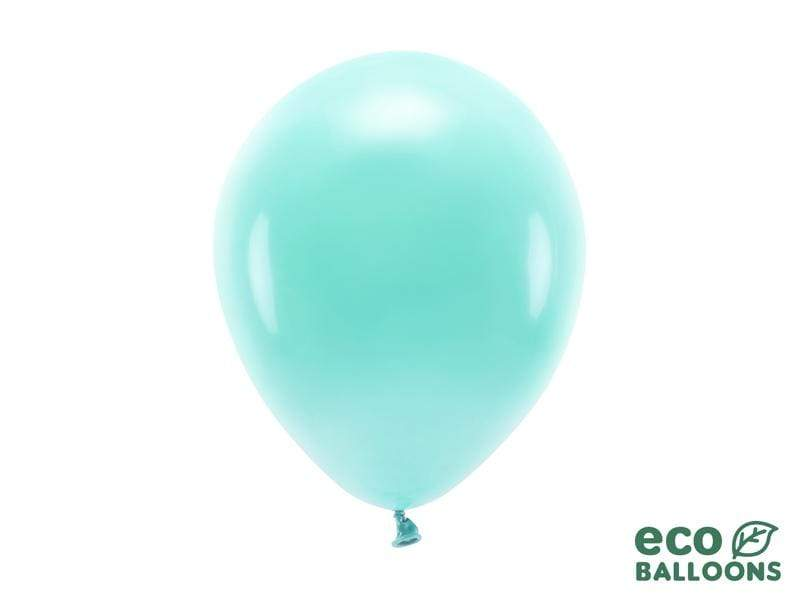 Eco Balloons 26cm pastel, dark mint (1 pkt / 10 pc.) Globos Party Deco