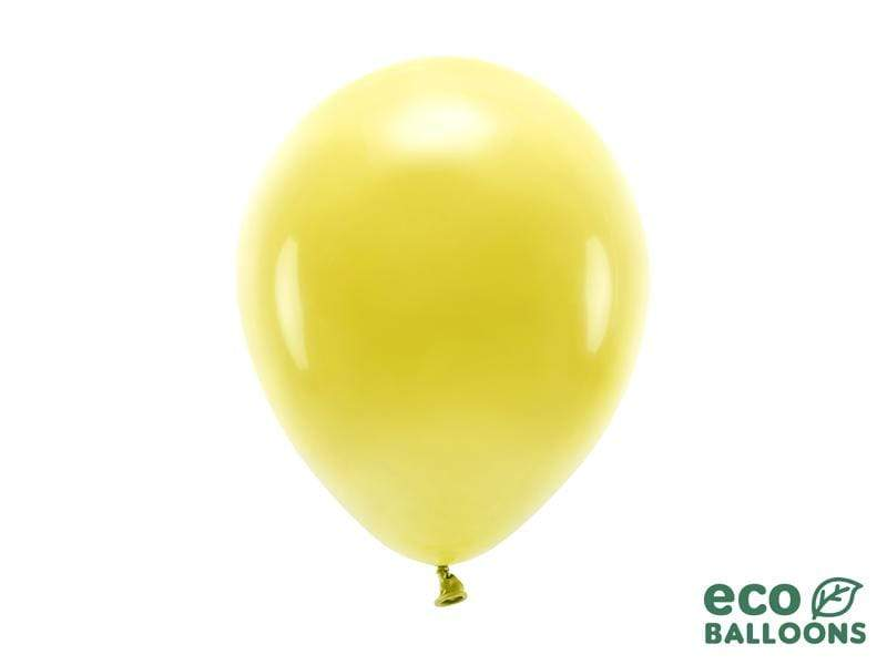 Eco Balloons 26cm pastel, dark yellow (1 pkt / 10 pc.) Globos Party Deco