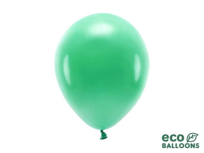 Eco Balloons 26cm pastel, green (1 pkt / 10 pc.) Globos Party Deco