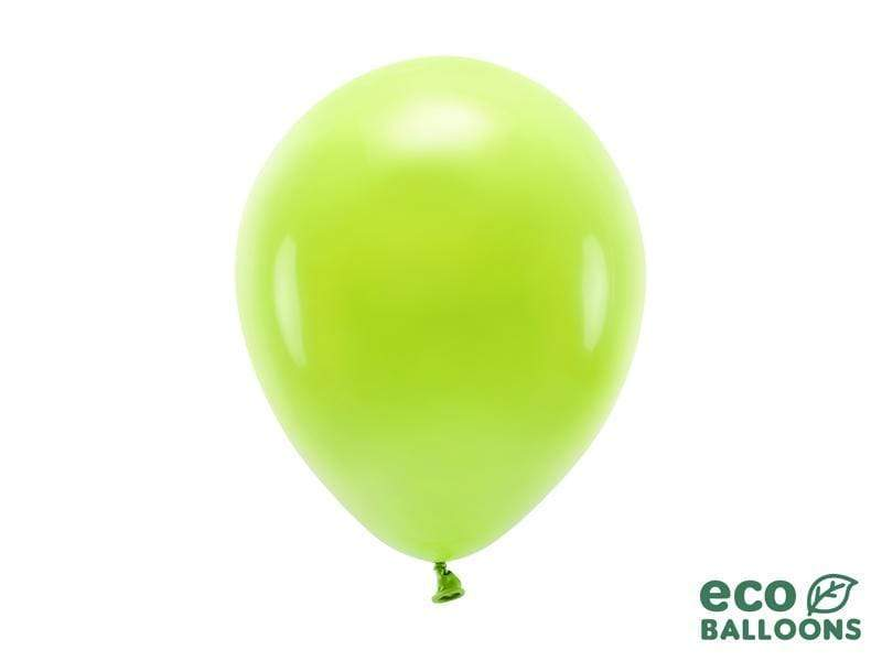 Eco Balloons 26cm pastel, green apple (1 pkt / 10 pc.) Globos Party Deco